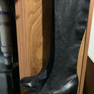 Shoes - Vintage stretch over the knee black 7.5 boots.